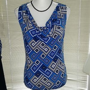 Calvin Klein gray and blue squares tank top
